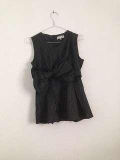 Solemio tanktop hitam blouse