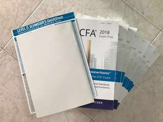 CFA Level 2 Kaplan Schweser Exam Prep Books and Texas Instruments BA II Plus Calculator
