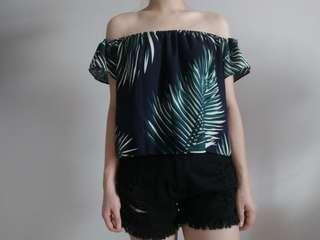 Tropical Off Shoulder Top