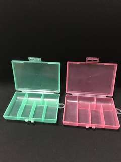 Plastic case/container/Storage organiser for small items, medicine and accessory
