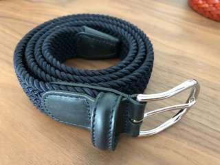 Anderson's Dark navy blue elasticated weave belt