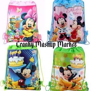 Mickey & Minnie Kid's Drawstring Bag (CMM-KDB)