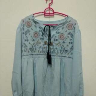 Embroidered blouse #20under