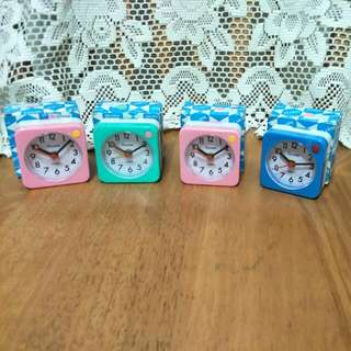 Alishi Quartz Mini Alarm Clock Set Of 4.