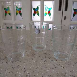 3 ikea drinking glass