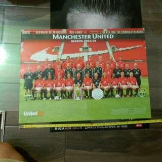 Manchester United Poster 2003/04 曼聯海報23*16吋