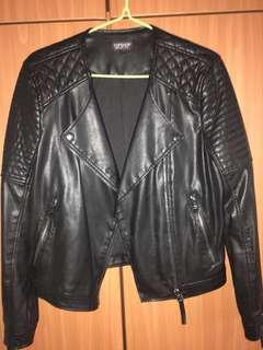 Black Leather Jacket TOPSHOP W size 40