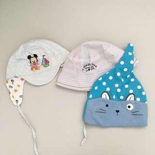 3pcs. 0-4 months Baby Cap Hat