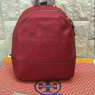 FREE SHIP Tory Burch Backpack back pack bag for school -red