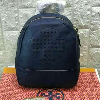 FREE SHIP Tory Burch Backpack back pack bag for school -navy blue