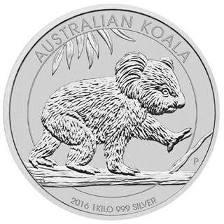 2016 Perth Mint Koala Bear 1 Kilo