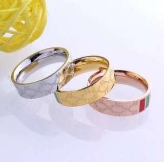 G titanium ring / Couple Ring