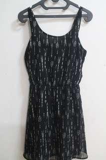 Dress hitam corak H&M