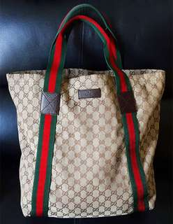 Gucci Original GG Canvas Tote Bag