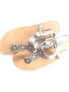 Gray with Flowers Sandals