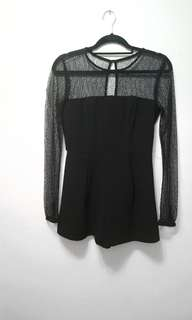 Black romper small mesh top