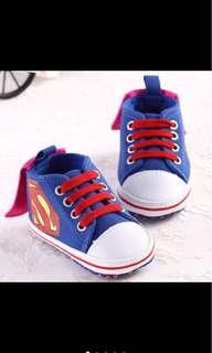 Baby boy superman soft shoe prewalk infant newborn toddler