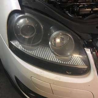 Original Volkswagen Golf GTI MK5 HID Xenon headlight 1 pair