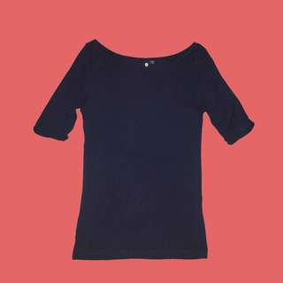Cotton On Navy Blue Top