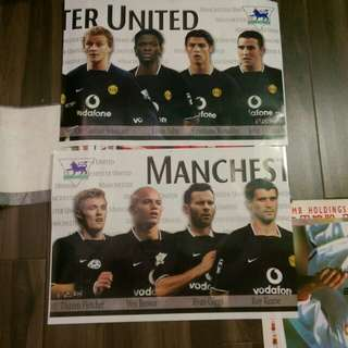 Manchester United and Liverpool Poster 曼聯利物浦五呎接駁大海報60*22吋