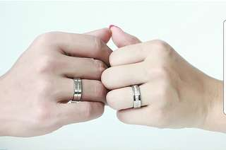 Couple Stainless Steel Ring (sold pair or separately)