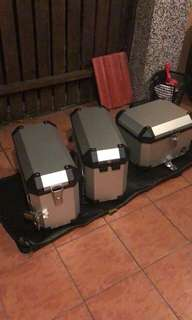 Pannier and top box aluminium Coocase