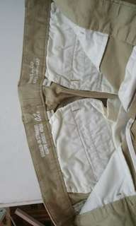 Two old navy pants in khaki beige  and navy blue