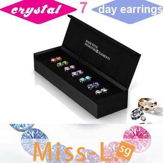 💋 SWAROVSKI ELEMENTS 7 DAYS EARRING