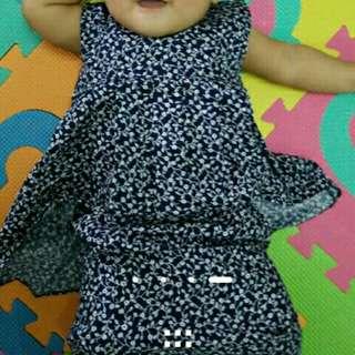 Baju Raya Baby Peplum 0-6months