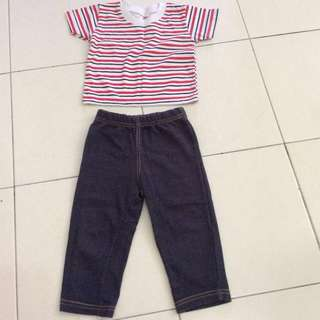 Baby boy set jeans and shirt #20under
