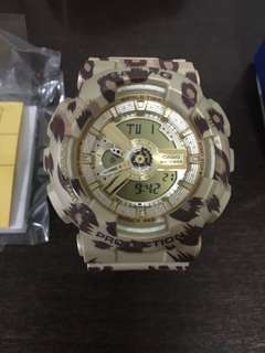 Baby G Leopard print G-shock watch