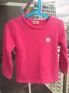 Pink long sleeve (hello kitty) size 120