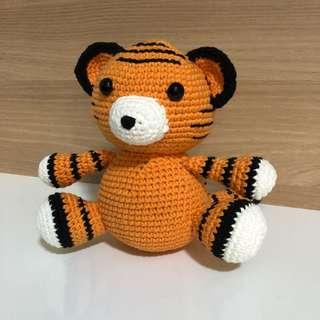 Handmade Tiger Cub (Amigurumi)
