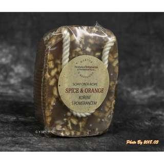 🚚 捷克 BOTANICUS(菠丹妮/波丹尼) 肉桂柳橙手工皂/香皂/肥皂 190g 懸掛式塑膠膜包裝 滿額免運/可刷卡