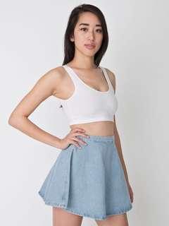 American Apparel Circle Denim Skirt