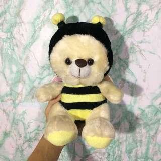 Cute Bear Wearing Bee Costume Plush Toy