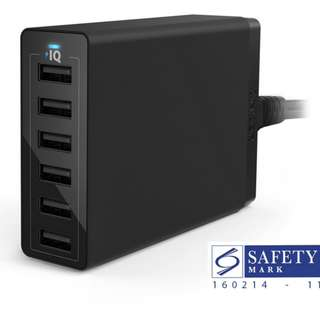 Anker Powerport 6 60W 12Amp 6 Port USB Charger