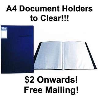 A4 Document Clear Folder Files