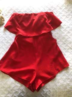 Red play suit