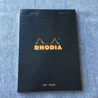 Rhodia A5 blank notepad