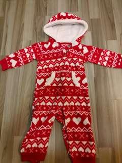 Carter's baby winter fleece jumpsuit jacket