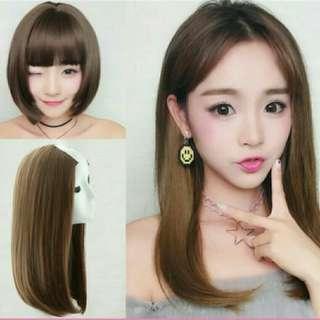 U Shape Natural Auburn Brown Hair Extensions