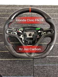 (Ready stock)Honda Civic FN2R Carbon steering