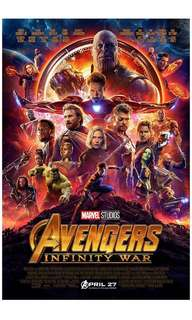 Avengers Movie Infinity War (2018) poster (24 闊x 36 寸高)