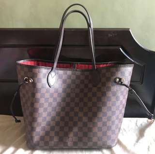 Lv neverful damier MM size yan