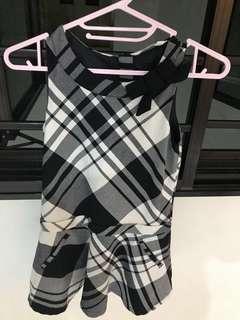 Black and white checkered dress