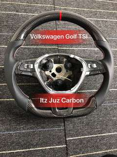 (Ready stock)Volkswagen Golf Carbon Steering