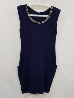 2pcs $14🔴A444 Gallery dk blue dress