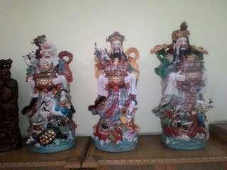 Patung Fu Lu Shou - Dewa Hoki (3pcs)