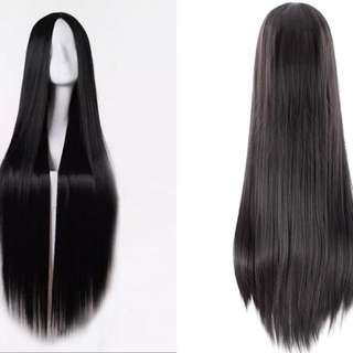 Theatre / costume / cosplay after waist length black wig